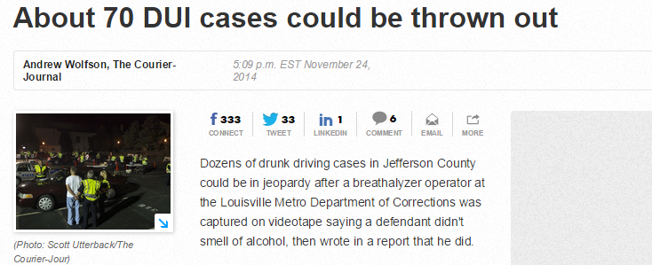 many-louisville-dui-cases-jeopardized-breathalyzer-operators-conduct
